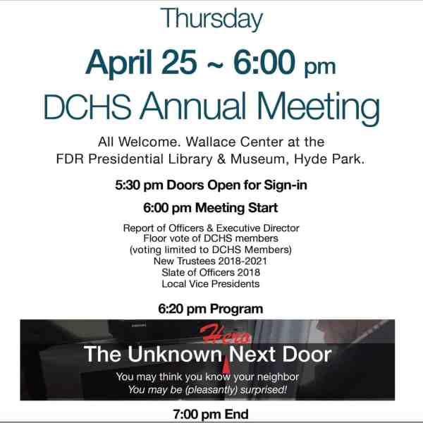DCHS ANNUAL MEETING APRIL 25