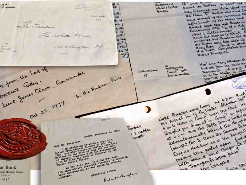 Correspondence and files prepared by the British Admiralty for FDR.