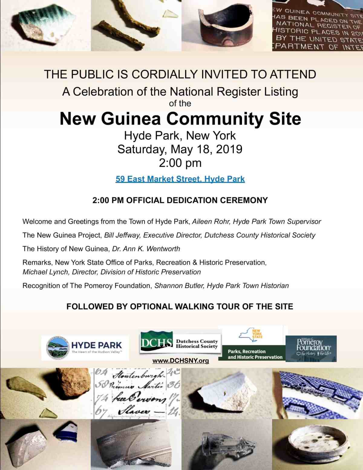 New Guinea May 18 invitation