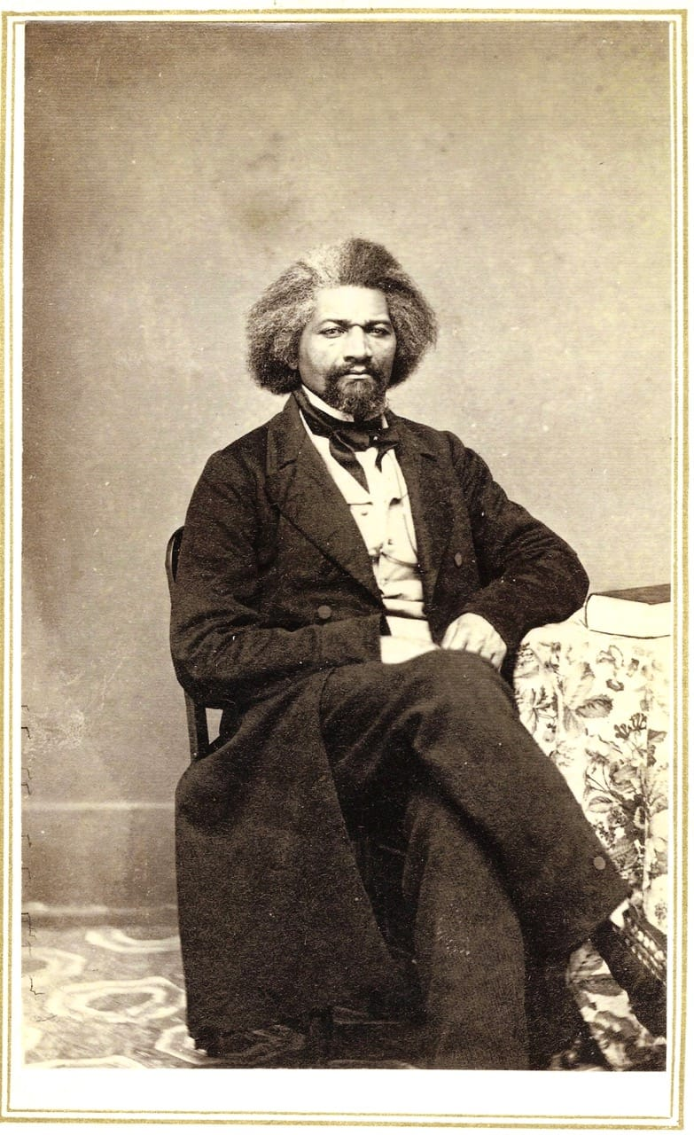 Photo of Frederick Douglass, 1863. Courtesy Hillsdale College, Michigan.