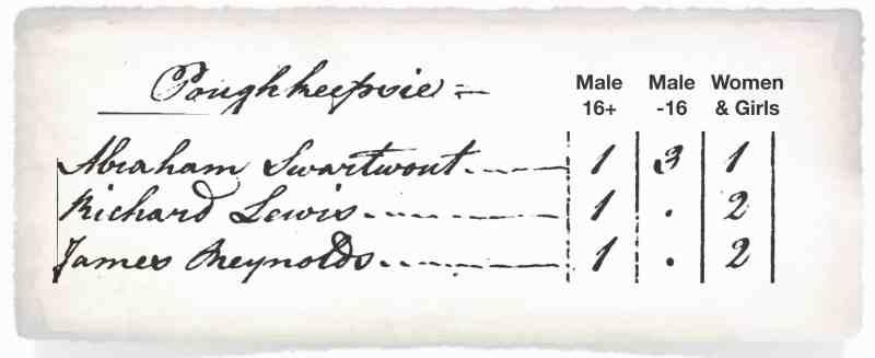 Pough 1790 Census Summ