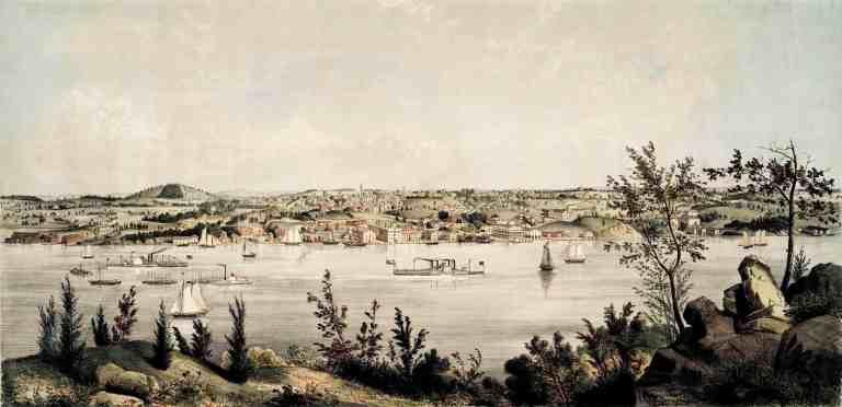 Poughkeepsie View 1852 Whitefield 02