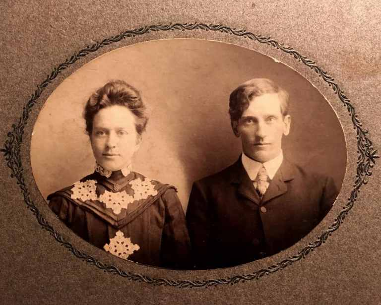 Anna Hewitt Rozell and Edwin Rozell Wedding 10-28-1902