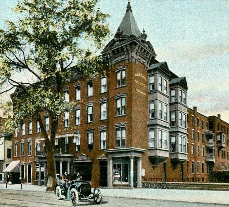 Nelson House, where C. T. Wang spoke Dec. 2, 1918.