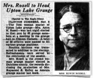 Rozell Heads Grange 1939