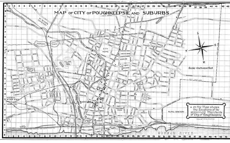 Poughkeepsie 1929 map