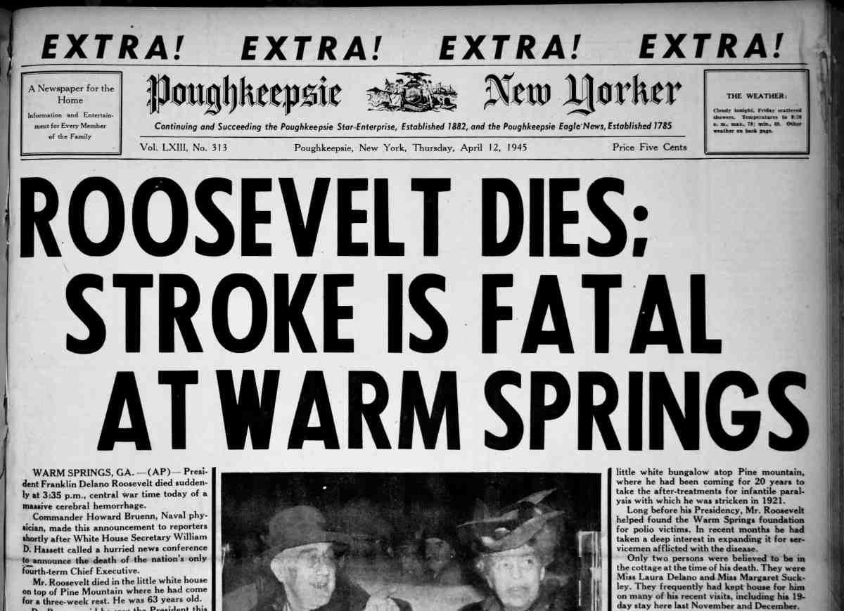 FDR Dies Poughkeepsie New Yorker
