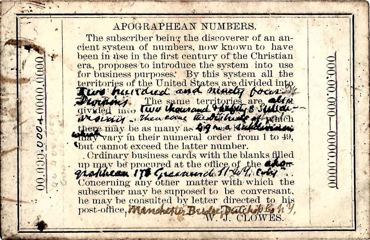 CMCE Clowes Wm J Card 1866 02
