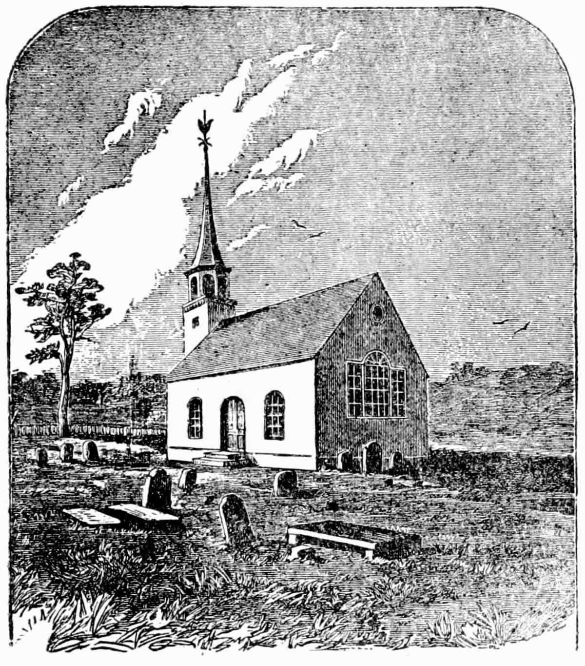 The original church building of St. George's Episcopal Church, Hempstead.