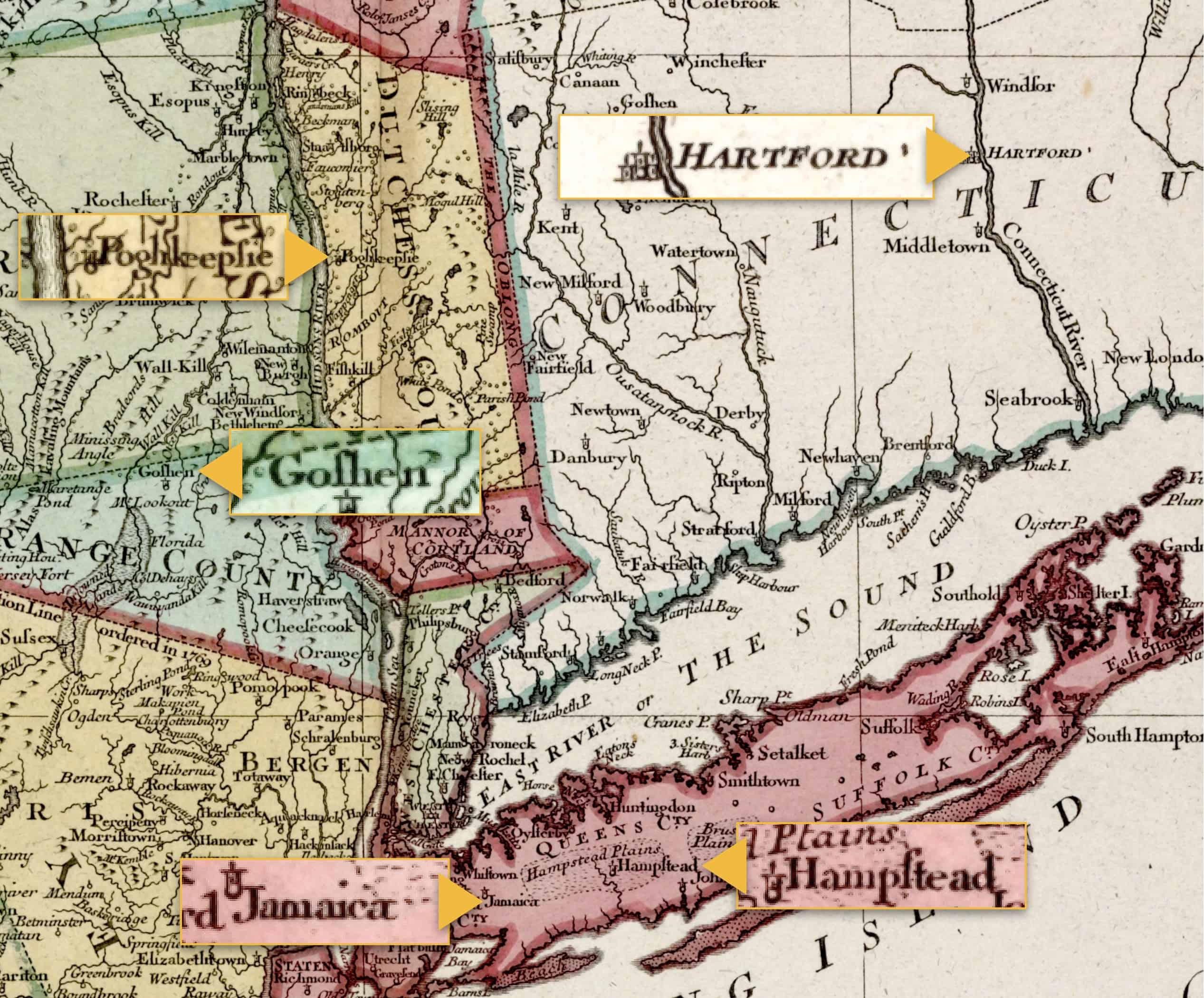 Clowes Hart Genealogy Map 1777