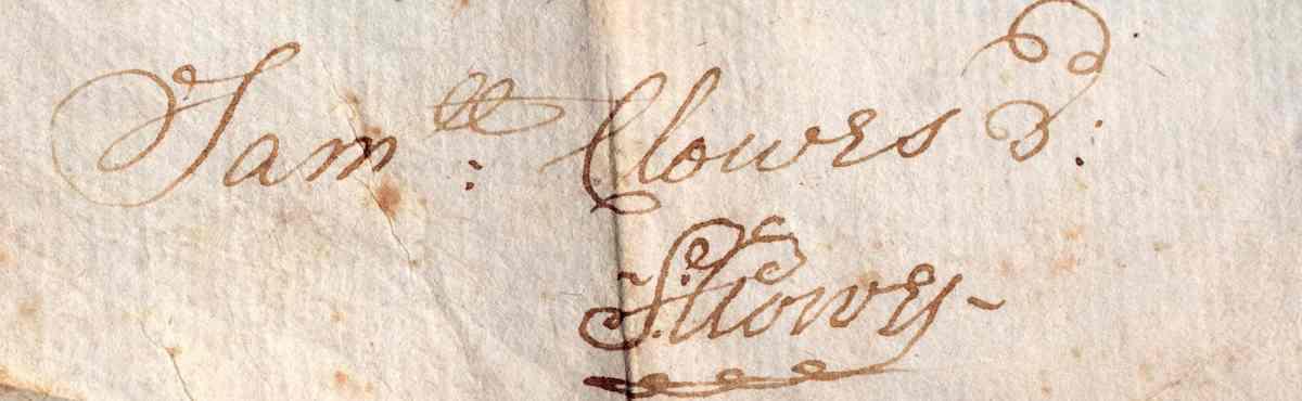 Samuel Clowes Signature 1747cu