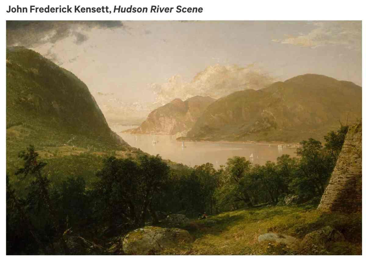 Kensett Hudson River Scene