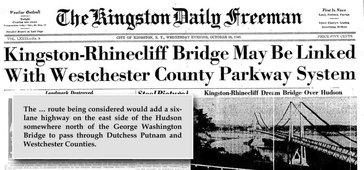Kingston Rhinecliff Bridge 1940s Montage