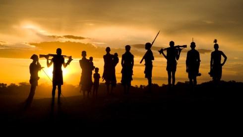dus village sunset-1
