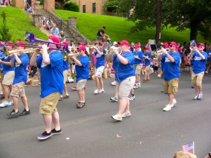 Different Band at 4th of July parade 2013