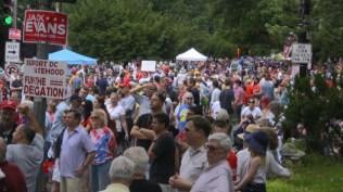 Crowds at Washington DC Palisades July 4th Parade