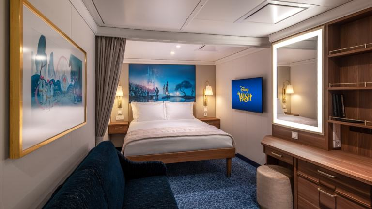Image of an Inside Stateroom on the Disney Wish (Disney Cruise Line)