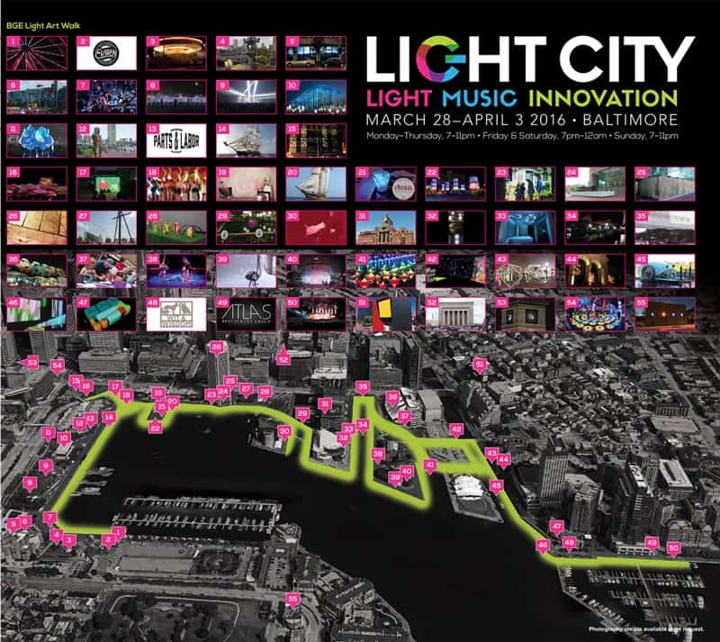 Light City Baltimore Map