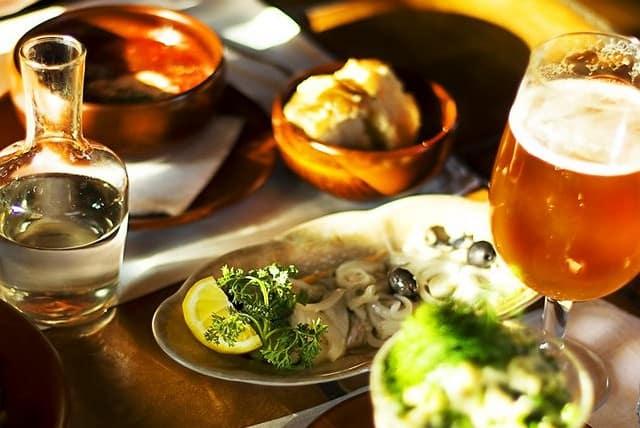 English food on table