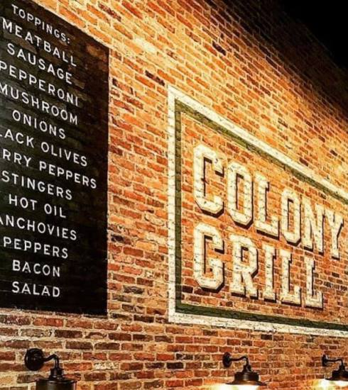 Colony Grill brick wall