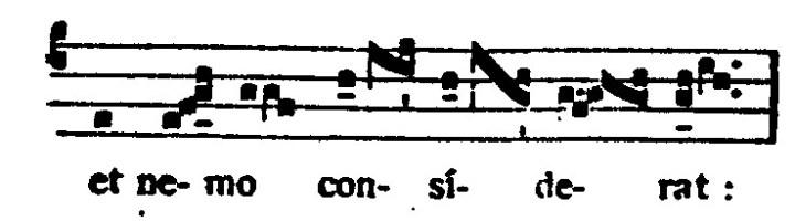 Voorbeeld 5: Begin en einde van de dikke streep geven de twee eerste noten aan.