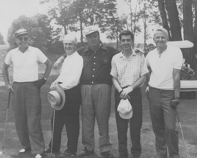center to right: Jackie Gleason, Al Plastino and George Tuska