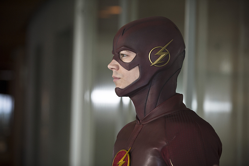 """The Flash -- """"All Star Team Up"""" -- Image FLA118B_0124b -- Pictured: Grant Gustin as The Flash -- Photo: Cate Cameron/The CW -- © 2015 The CW Network, LLC. All rights reserved."""