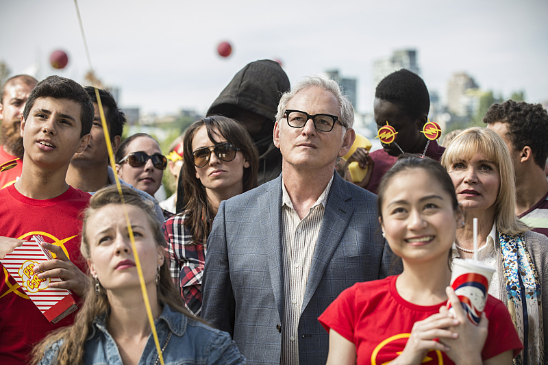"The Flash -- ""The Man Who Saved Central City"" -- Image FLA201a_0066b -- Pictured (L-R): Victor Garber as Professor Stein and Isabella Hofmann as Clarissa Stein -- Photo: Cate Cameron /The CW -- © 2015 The CW Network, LLC. All rights reserved"
