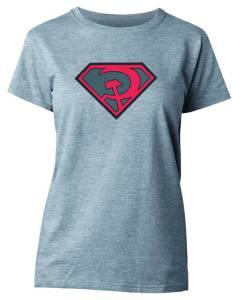 SUPERMAN RED SUN SYMBOL WOMENS T/S MED $18.95