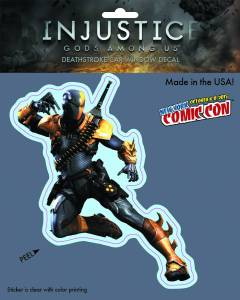DC HEROES INJUSTICE DEATHSTROKE NYCC 2015 EXCL VINYL DECAL