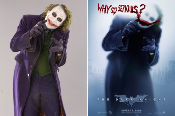 joker heath ledger dc comics news poster