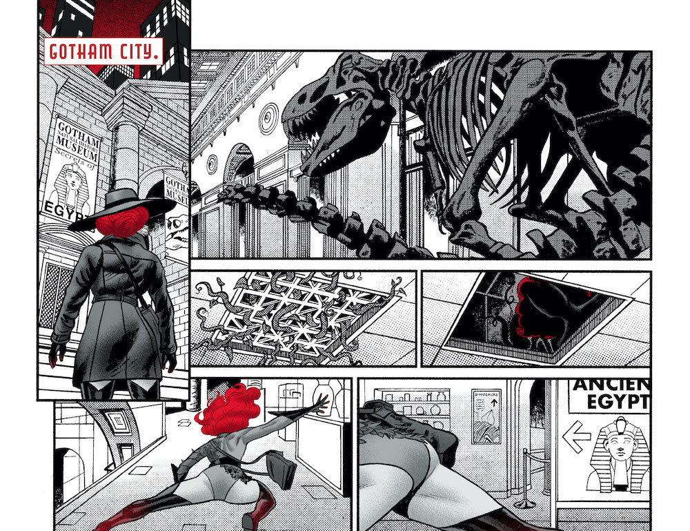 Review: Harley Quinn: Black + White + Red-Ivy-at-the-Museum