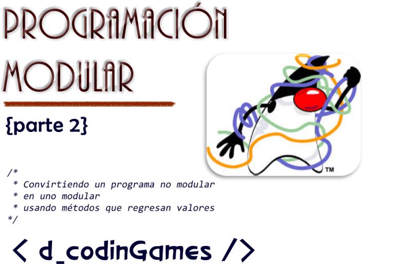 Programación Modular