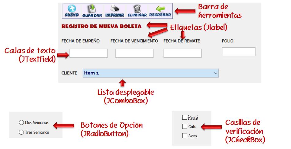 dCodinGames - Controles gráficos comunes de una Interfaz Gráfica de Usuario