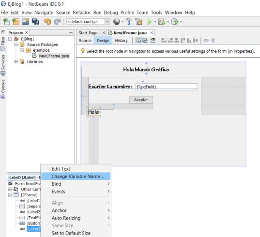 dCodinGames - Modificando el nombre de un objeto