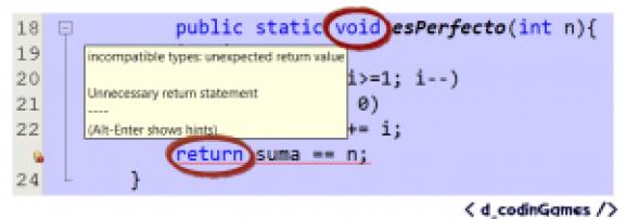 Error de Tipos incompatibles
