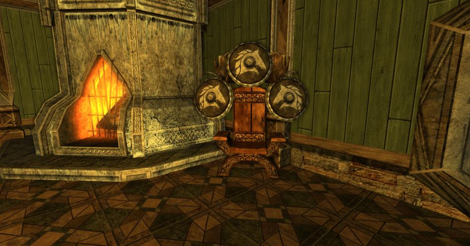 chaise et 3 boucliers des R4