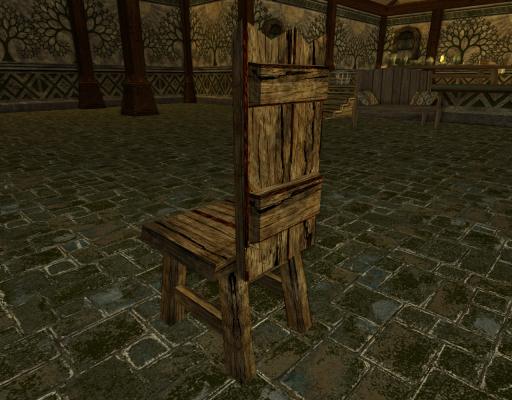 Chaise grossière des Rohirrim