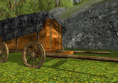 Chariot couvert des Rohirrim