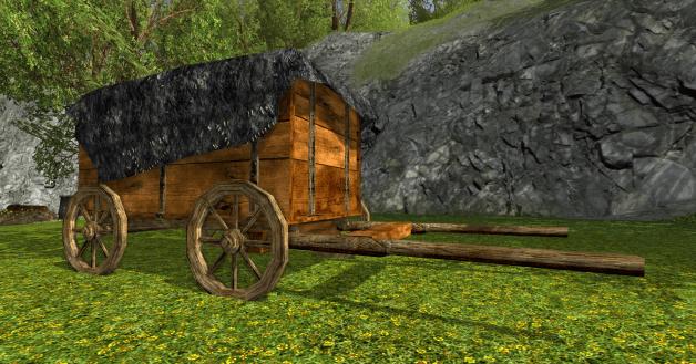 chariot couvert des r