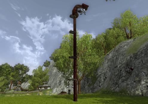 Grand poteau d'attache des Rohirrim