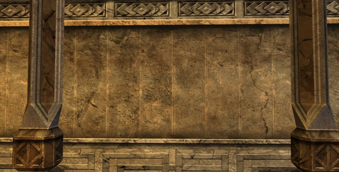 Mur en Pierres Imbriquées