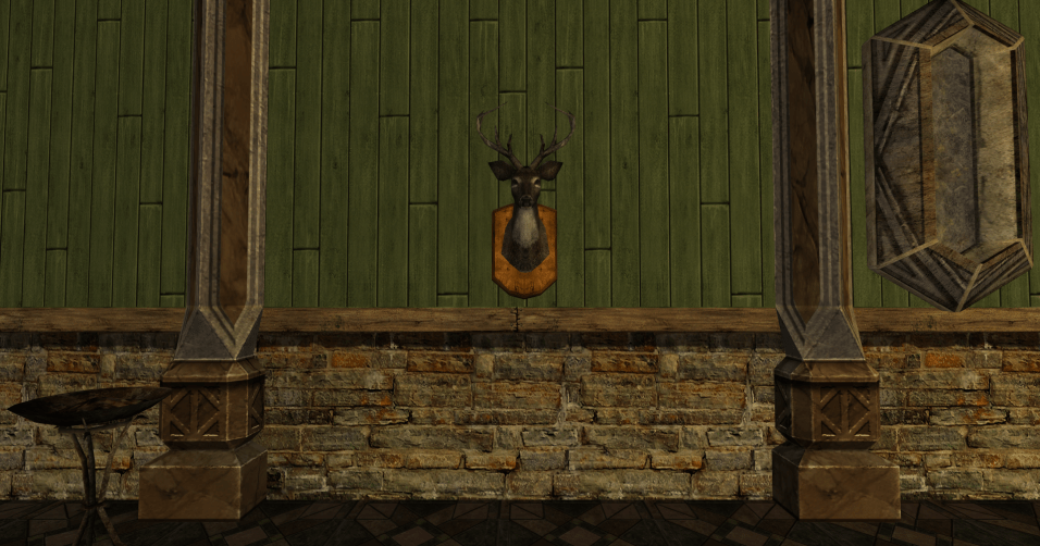 tête de daim montée au mur des R4