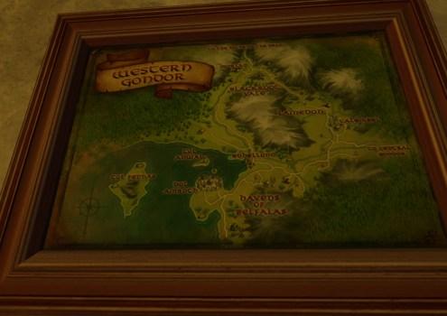 Petite carte de l'Ouest du Gondor