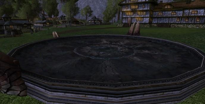 Bassin réfléchissant rond du Gondor