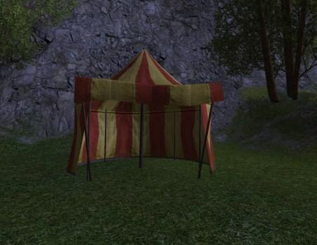 Tente Rouge et Or