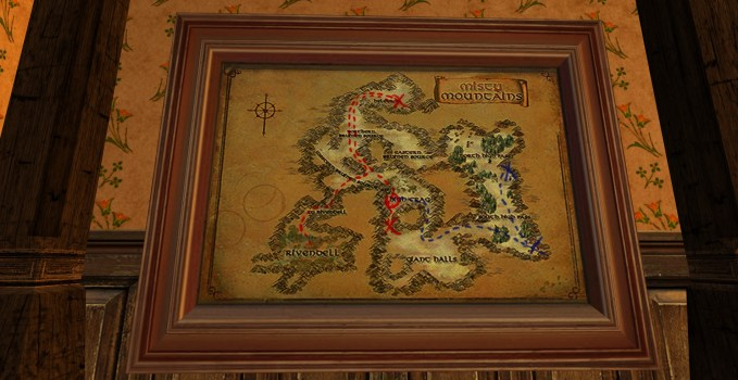 Grande carte de Bingo dans les Monts Brumeux