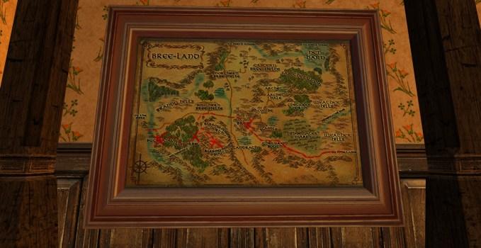 Grande carte de Bingo dans le pays de Bree