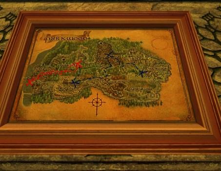 Petite carte de Bingo dans la Forêt Noire