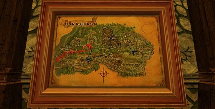 Grande carte de Bingo dans la Forêt Noire